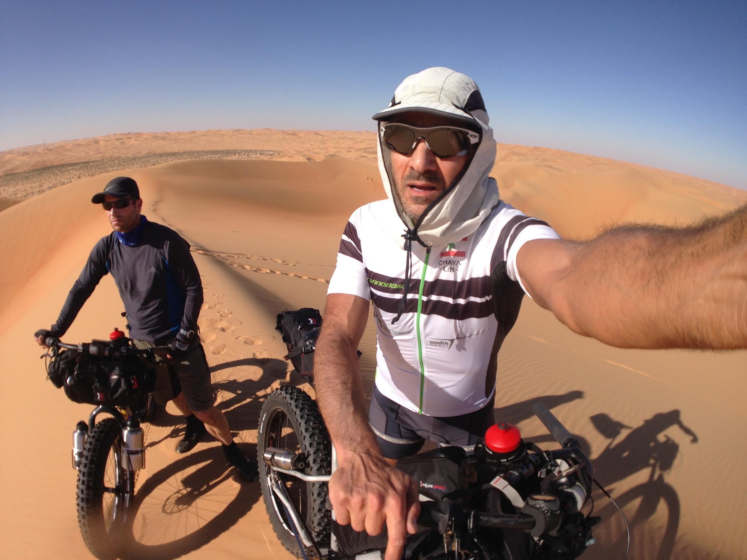 صورة مغامرة مكسيم شعيا لعبور الصحراء تنطلق غداً