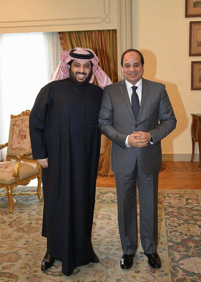 صورة تركي ال الشيخ … السيسي نهض بمصر ومفاجات كبري قادمة في التعاون بين مصر والسعودية