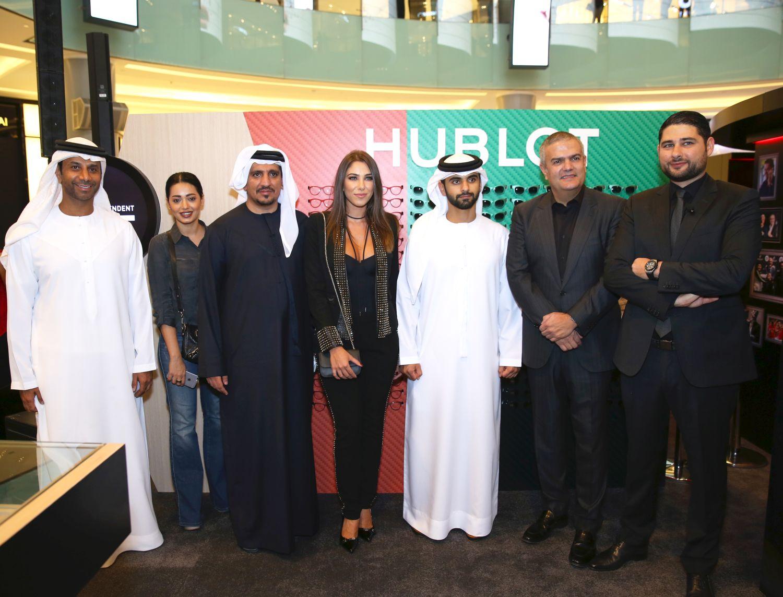 صورة سمو الشيخ منصور بن محمد بن راشد ال مكتوم وفايز السعيد احتفلا مع هوبلو الشرق الاوسط في دبي