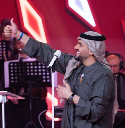 صورة ليلة اسطورية في الرياض وابداع حسين الجسمي