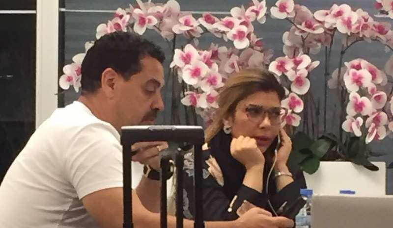 صورة اصالة والمخدرات في مطار بيروت