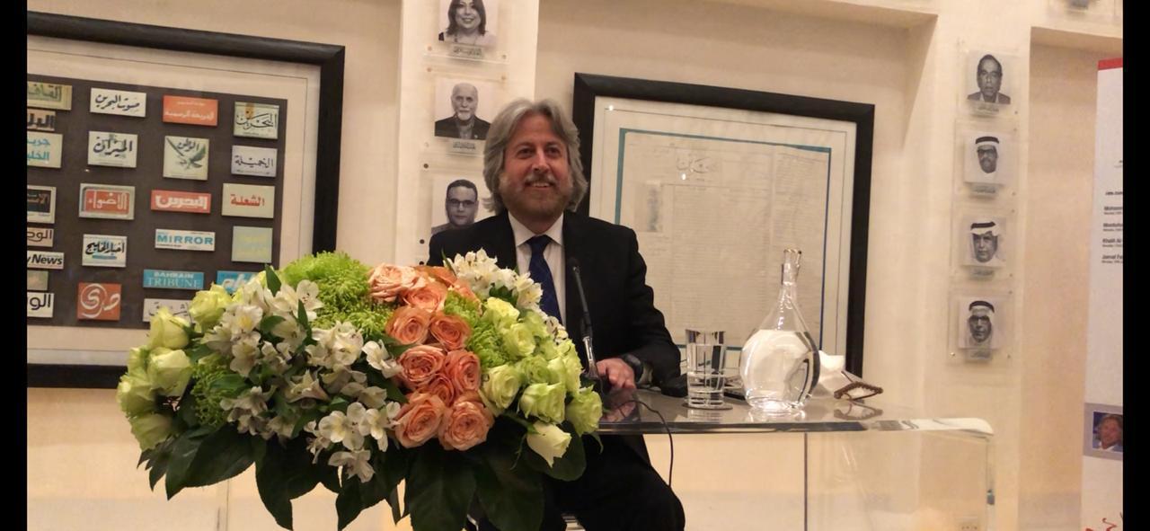 صورة مركز الشيخ ابراهيم بن محمد ال خليفة يستضيف جمال فياض محاضرا حول الصحافة والاعلام والميديا
