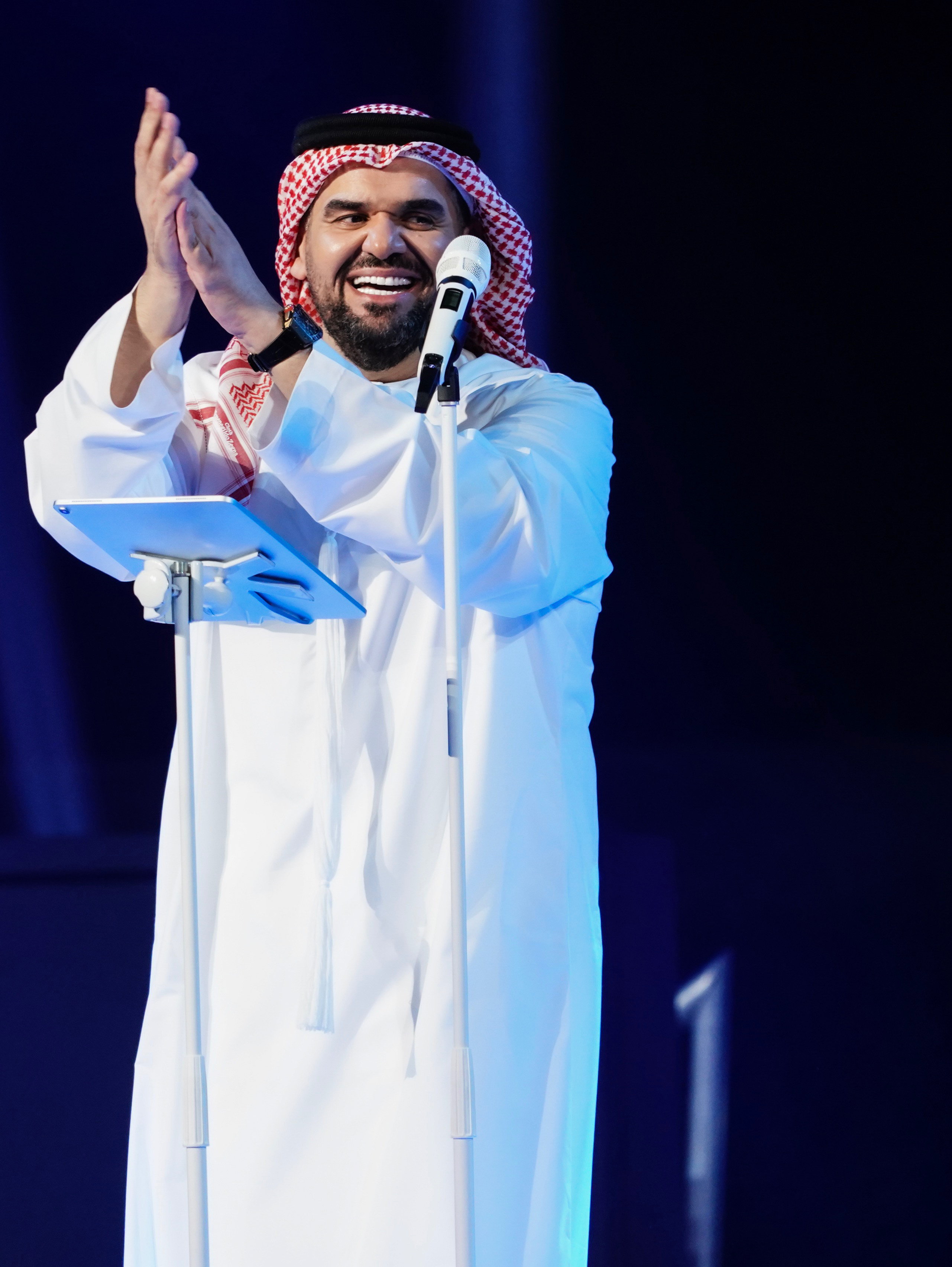 صورة حسين الجسمي ومارايا كاري وحفل عالمي في اكسبو دبي 2020 الامارات