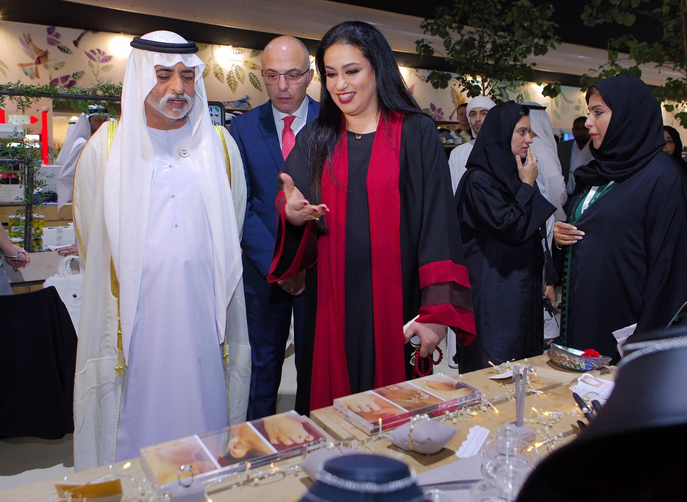 صورة اطلاق العلامة التجارية لمجوهرات نشوة في معرض عطايا