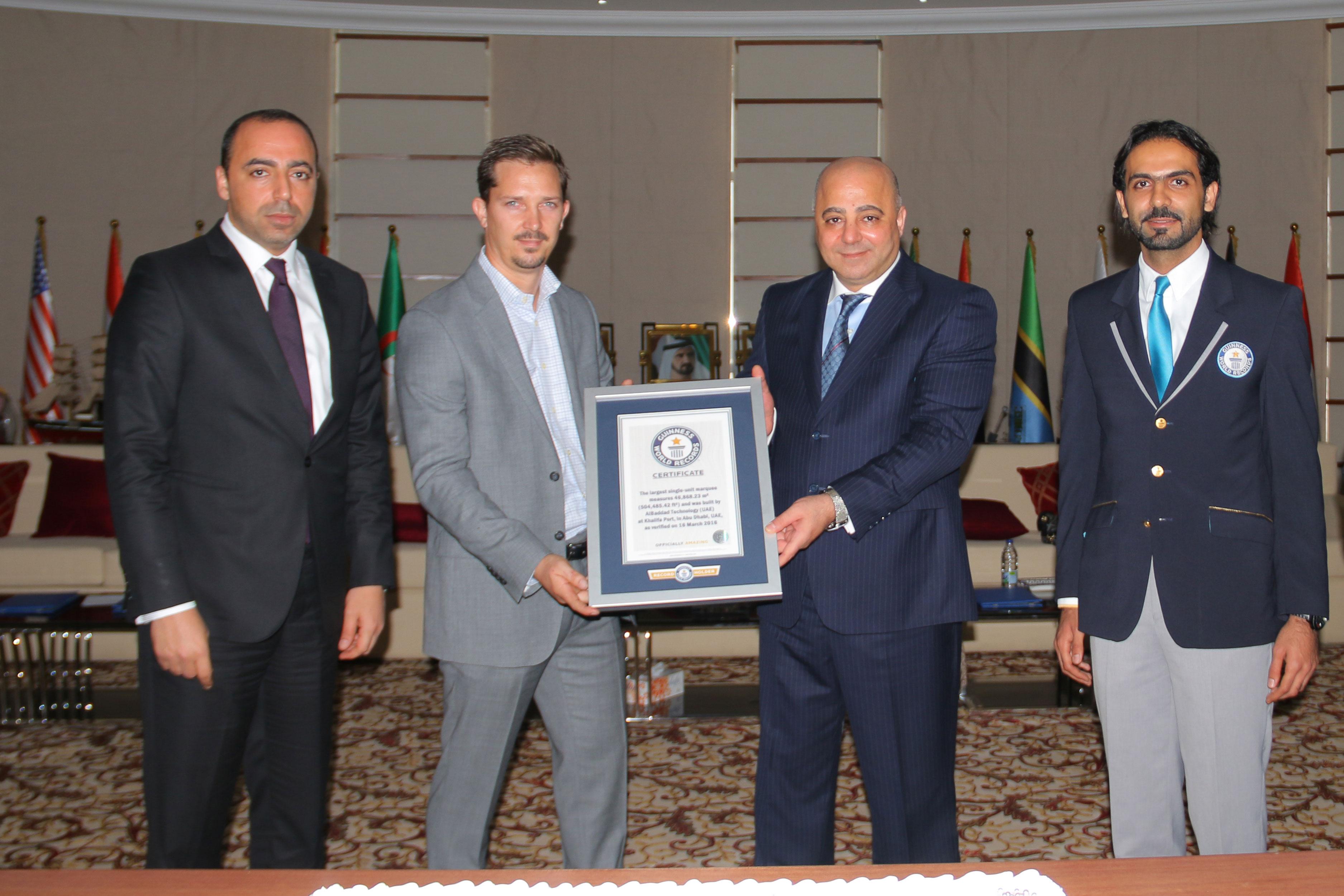 صورة الإمارات ومجموعة البداد يدخلان موسوعة غينيس بأكبر مستودع في العالم الامارات العربية المتحدة
