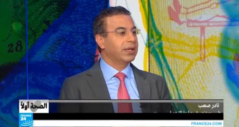 صورة د.نادر صعب .اول طبيب تجميل لبناني علي شاشة france24