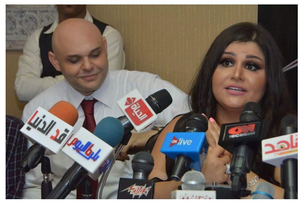 صورة مزيكا مع وعد البحري  والبوم فرحتي بيك ومؤتمر صحفي