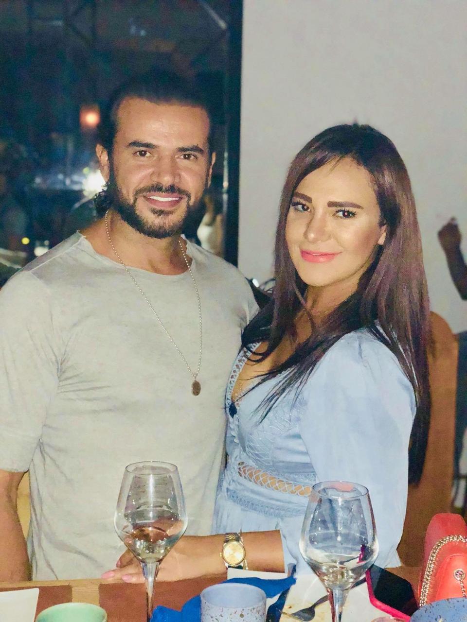 صورة سامو زين وزوجته في لبنان ومن قرطاج الي صور