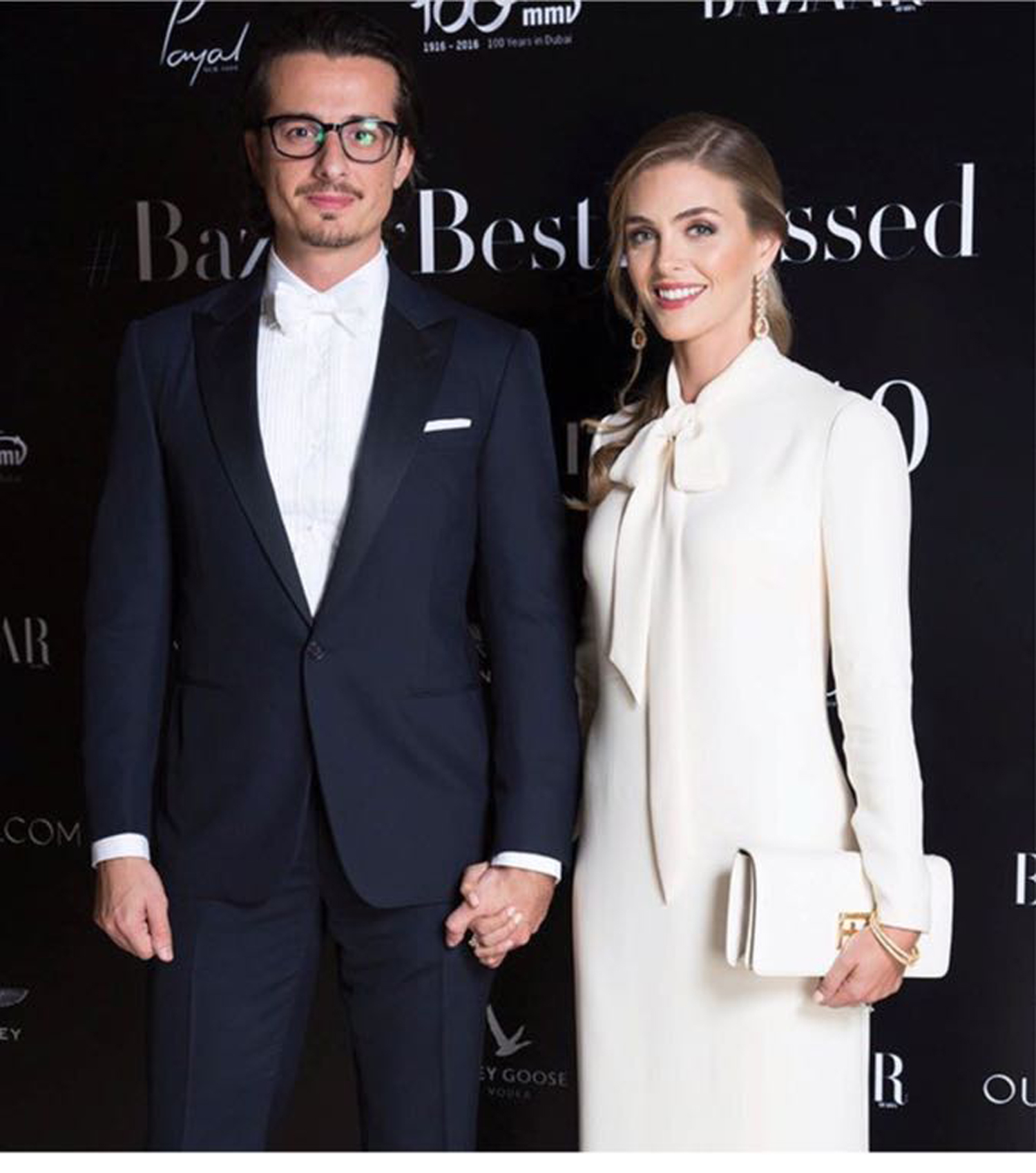 صورة ليندي لوهان وساندي تتألقان في حفل Harper's Bazar Arabia